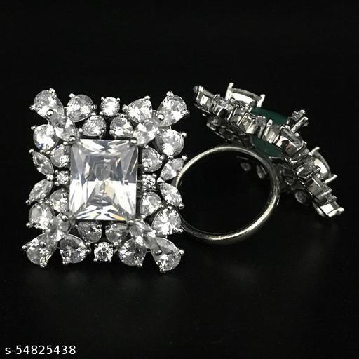 Square Design AD Diamond Designer Finger Ring