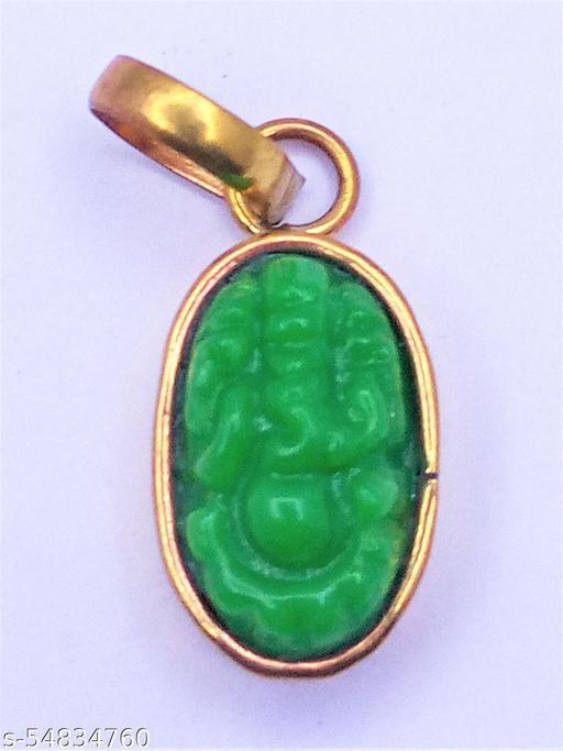 Raviour lifestyle Ganapati Panna Ganesh Pendant
