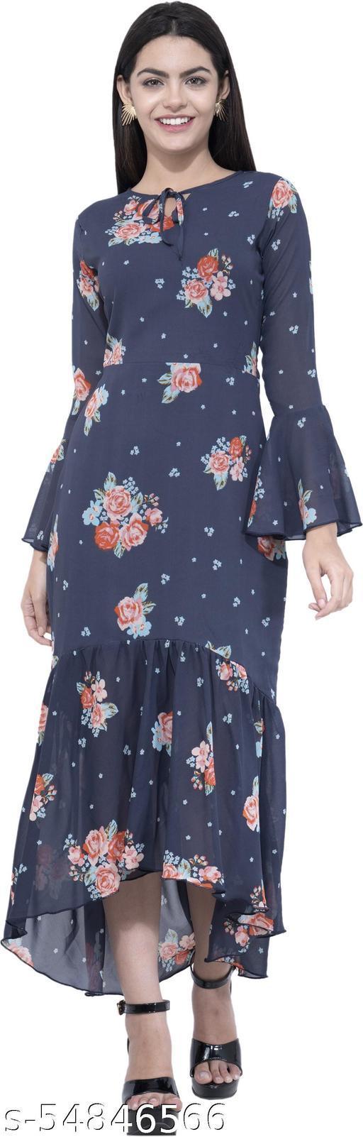 Aayu Women Asymmetric Blue Dress