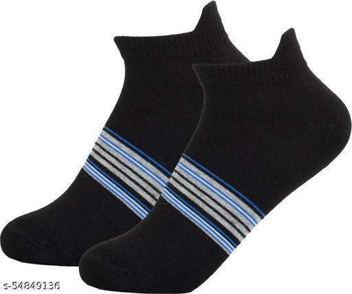 ThunderLook Black Ankle Length Men Socks SK1266