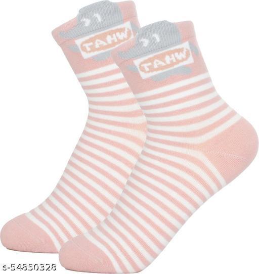 ThunderLook Pink Mid-Calf/Crew Women Socks SK446