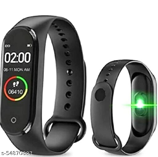 M4 Intelligence Bluetooth Wrist Smartwatch Band with Activity Tracker, Bracelet Watch, Smart Fitness Band with Heart Rate Sensor Compatible All Androids iOS Phone