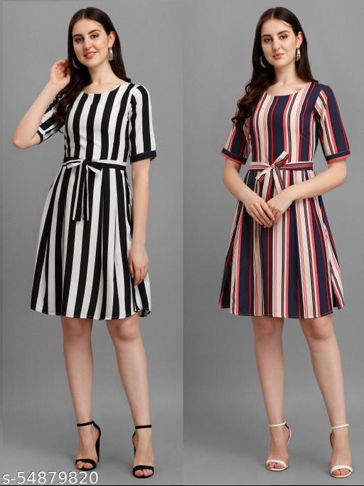 New Trendy Stripe Designer Dresses For Women
