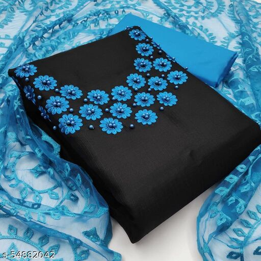 Kota chek stone work suit with fancy net dupatta