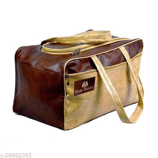 CS Collection Duffle Bag Travel Duffel Bag Luggage Duffel Bags Air Bags Luggage Bag Travelling Bag Truffle Bags (Brown)
