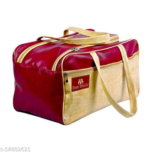 CS Collection Duffle Bag Travel Duffel Bag Luggage Duffel Bags Air Bags Luggage Bag Travelling Bag Truffle Bags (Maroon)