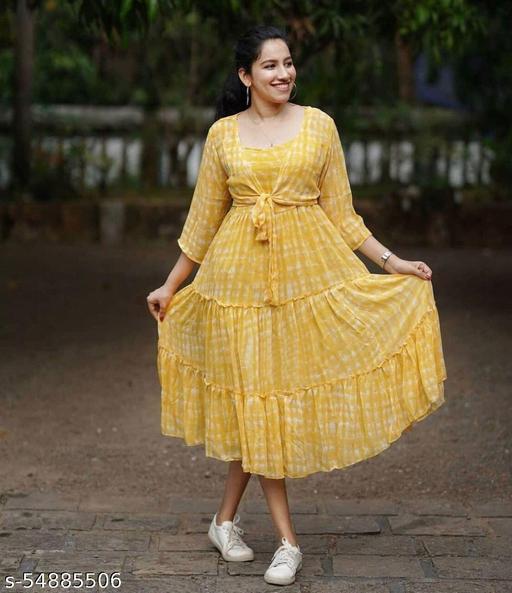 Ladies Designer Georgette Dress
