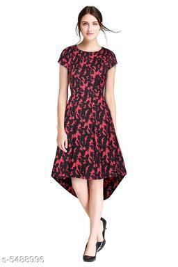 Women's Printed High-Low Dress