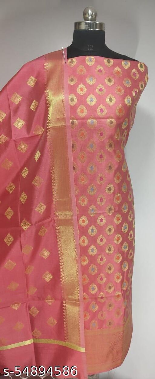 (R2Peach) Fashionable Banarsi Multi Mina Silk Suit And Dress Material