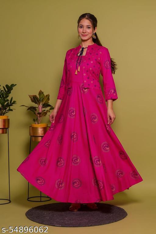 Siyaram Trends Rayon Printed Maxi Gown