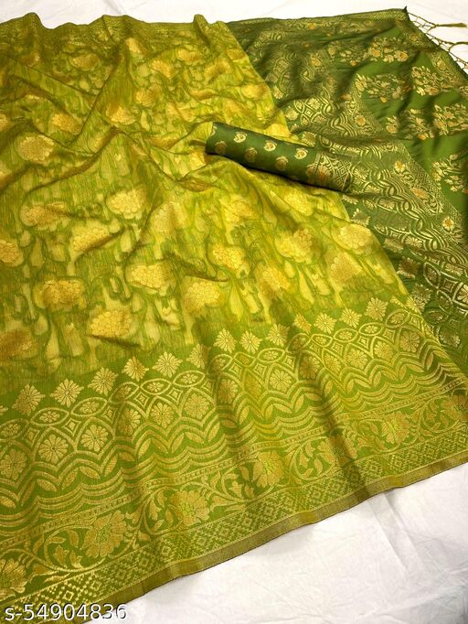 Beautiful and Gorgeous heavy woven banarasi silk festive collection saree