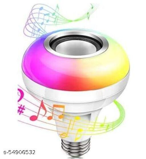 Bluetooth Changing smart led Light Bulb with in Built Speaker Home Decorating Smart Bluetooth Speaker for Home,Bedroom,Living Room,Party Compatible for All Device/Random Colour