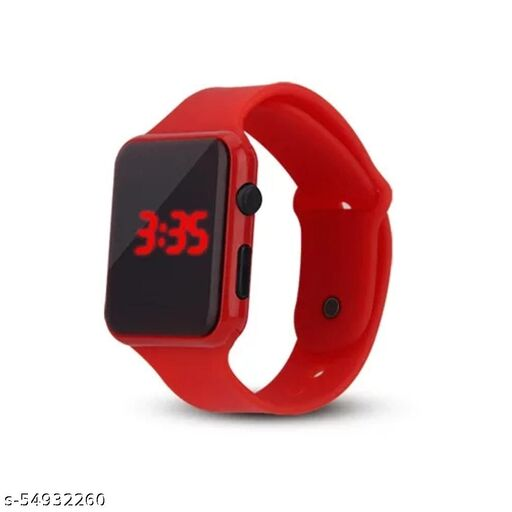 Square Kids LED Watch Red Color