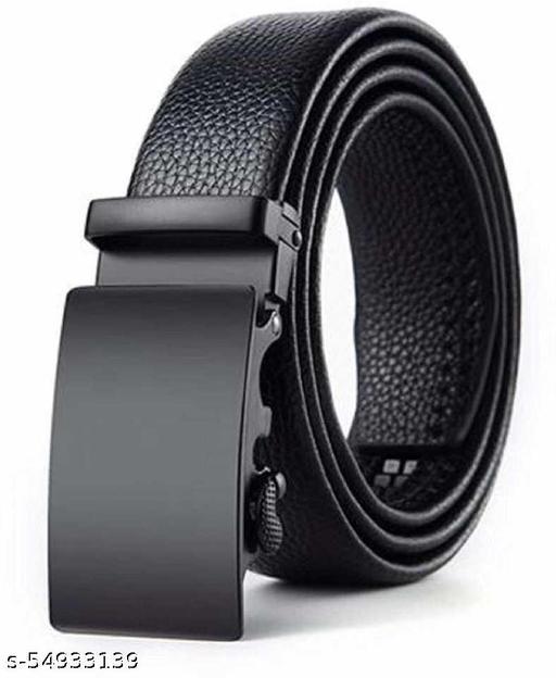 artficial leather belt autolock design