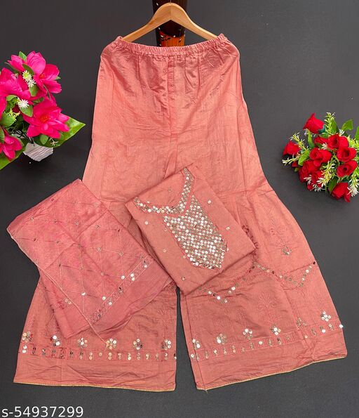 womens trendy exclusive sharara dress material suit