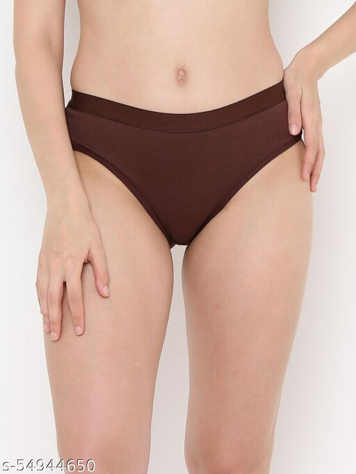 Berry's Intimatess Medium Rise Three-Fourth Coverage Brown Hipster Panty