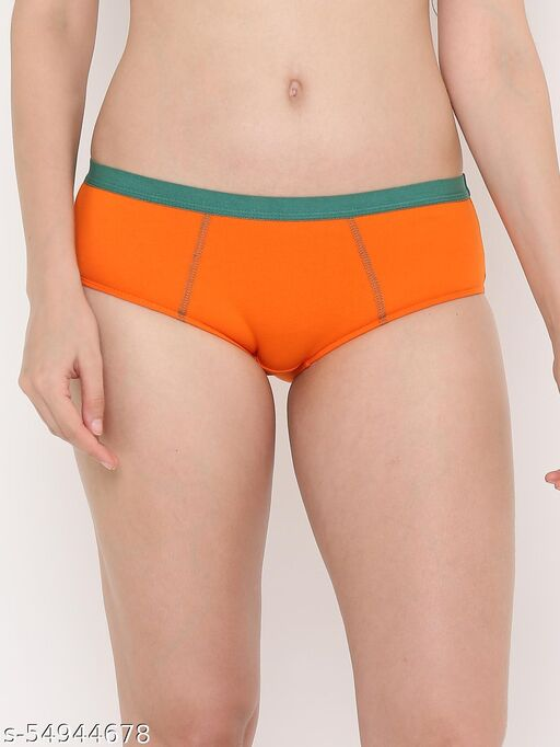 Berry's Intimatess Women Full Coverage Orange Hipster Panty
