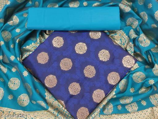 Zeepkart Blue Coloured Suit And Dress Material