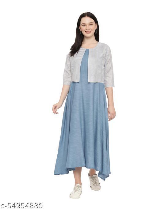 Pavisa Women Layered Light Blue Dress