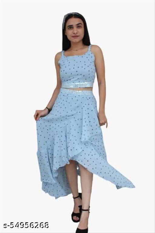 Trendy Georgette Fashionable Western Wear Dress