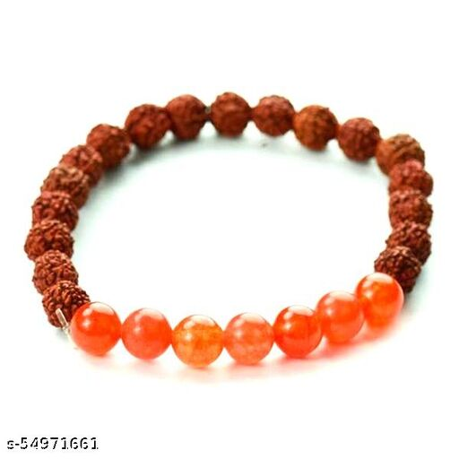 5 Mukhi Rudraksh With Carnelian bracelet