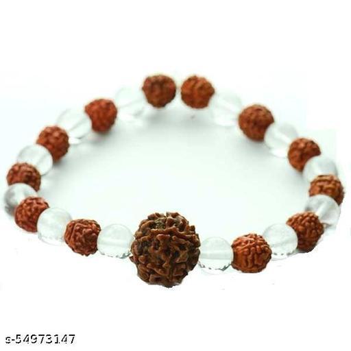 5 Mukhi Rudraksh With Crystal bracelet