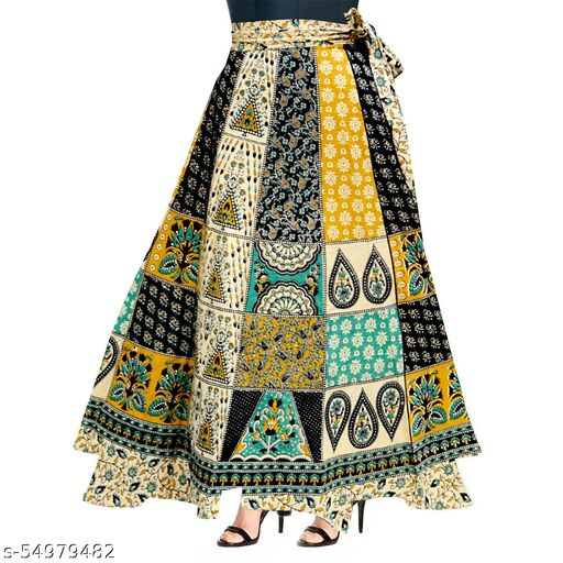 Women Cotton Printed Ethnic Wear Long Skirt
