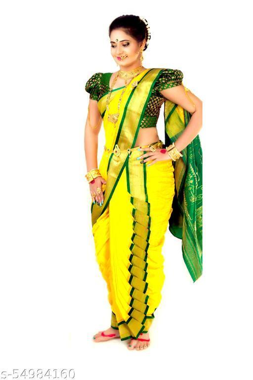Womens Ready To Wear 9 Mtrs Nauwari Saree | Ready made Maharashtrian Single Kashta Nauvari Saree