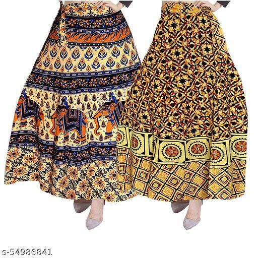 Ethnic Wear Wrap Around Women's Skirt