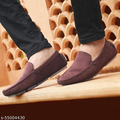 John Karsun Men's Brown Loafers ( 3821 )