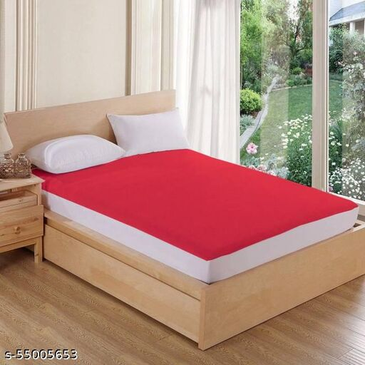 """Water Proof Terry Cotton Mattress Protector 78""""x72"""" - King Size, Maroon"""