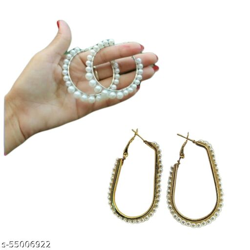 FEEL PRETTY Beauty Full Earring Combo for girls and womans ( 2pairs ) Alloy Jhumki Earring