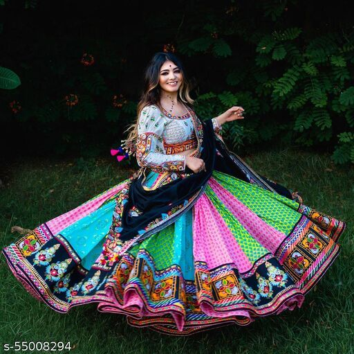 ????JAI BHAWANI TEX????  ?? Presenting New Navratri Printed Silk lehenga choli ??