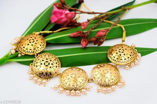 Pearl Coin Necklace Earring & Maangtikka Set for Women