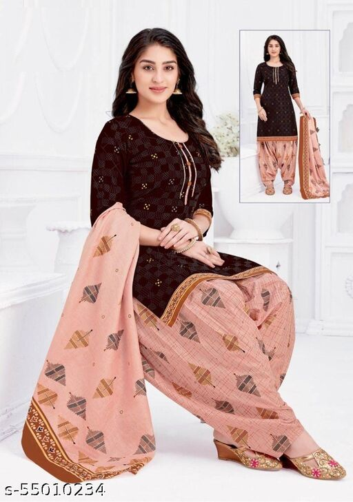 AAYESHA Presents Exclusive collection of SHREE GANESH printed  pure cotton unstitch suits & Dress Material for Women and Girls