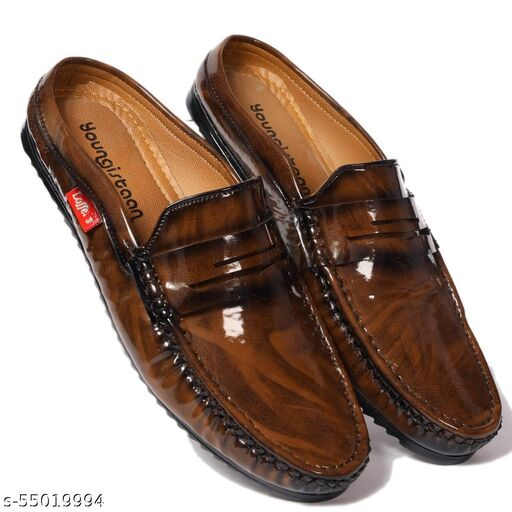 Youngistaan Men's And Boys Patent Leather Half Shoes Loaffer/Casualwear/Partywear/Officewear