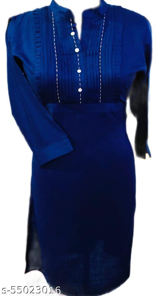 blue pintex kurti