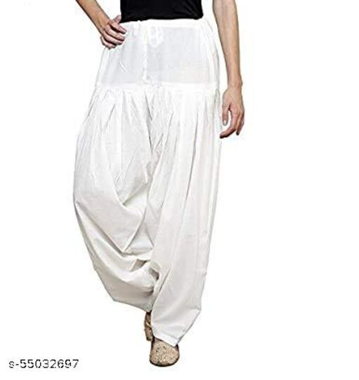 MAKE SURE  Cotton Salwar for Women And Girls_Free Size_white