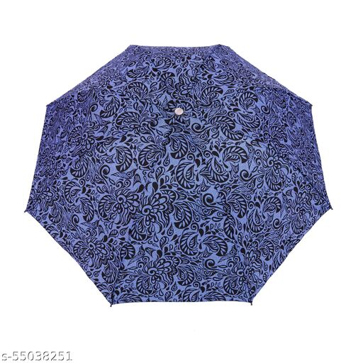 Bizarro.in 4 Fold JAIPUR PRINT BRAND NEW FASHIONABLE MANUAL OPEN UMBRELLA WITH RUSTPROOF COATED SHAFT MATERIAL AND RUBBER COATED PLASTIC HANDLE- SUTAIBLE FOR WOMEN::GIRLS-21