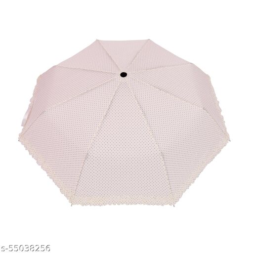 Bizarro.in 3 Fold FRILL DESIGN BRAND NEW FASHIONABLE MANUAL OPEN UMBRELLA WITH RUSTPROOF COATED SHAFT MATERIAL AND RUBBER COATED PLASTIC HANDLE- SUTAIBLE FOR WOMEN::GIRLS-053