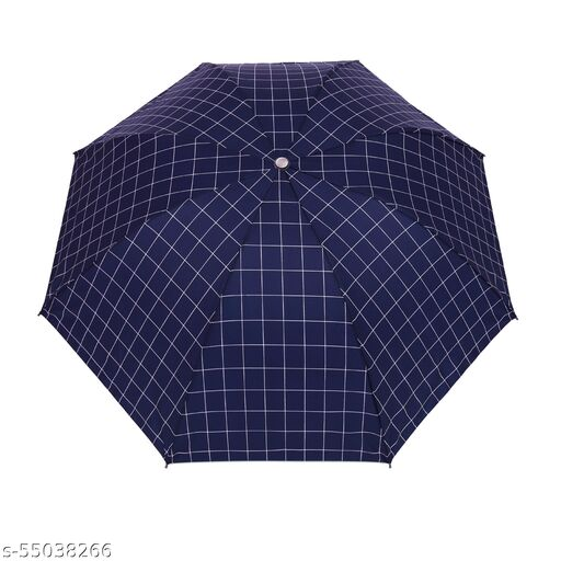 Bizarro.in 4 Fold CHECKS DESIGN BRAND NEW FASHIONABLE MANUAL OPEN UMBRELLA WITH RUSTPROOF COATED SHAFT MATERIAL AND RUBBER COATED PLASTIC HANDLE- SUTAIBLE FOR MEN::WOMEN::GIRLS::BOYS-07