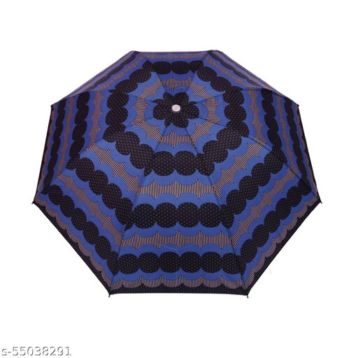 Bizarro.in 4 Fold STRIPED AND POLKA DOTS BRAND NEW FASHIONABLE MANUAL OPEN UMBRELLA WITH RUSTPROOF COATED SHAFT MATERIAL AND RUBBER COATED PLASTIC HANDLE- SUTAIBLE FOR WOMEN::GIRLS-20
