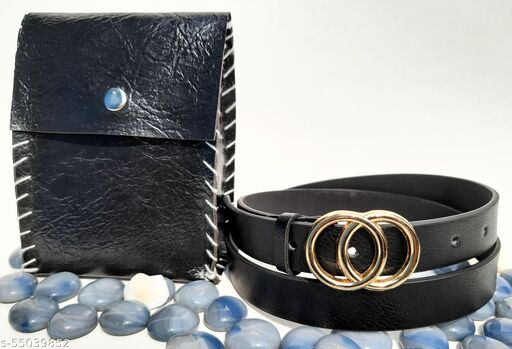STYLISH BELT FOR WOMEN. GOLDEN PLATED BUCKLE  CASUAL AND PARTY WEAR.