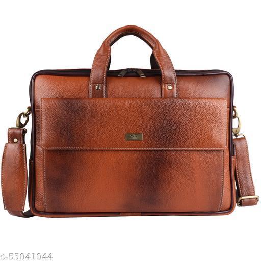 Leather Laptop Bag Tan