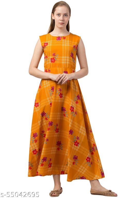 Triraj Fit and Flare long dress