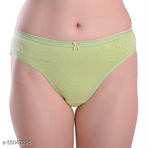Blush n Bloom Women Cotton Bikini Panty ( Pack of 1) Green