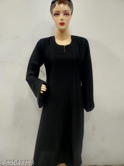 Plain Close Abaya Imported Fabric