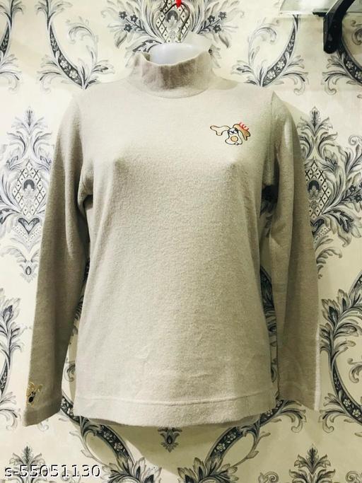 Trendy Full-Sleeve Woollen Sweater For Women