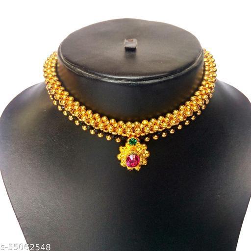 Galsari Traditional Wedding (Maharashtrian/Haryanvi/Punjabi) Galsari/ Thushi ( Choker ) Necklace for Women and Girls