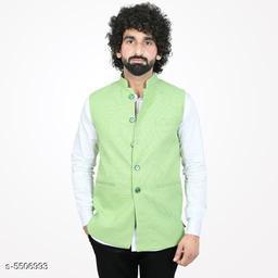 Stylish Cotton  Blend Men's Nehru Jacket